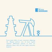 Oil pump jack. — Wektor stockowy