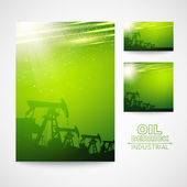 Pump Jack Oil Crane for your business card design. — Vetorial Stock