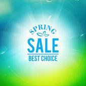 Bahar satış arka plan — Stok Vektör
