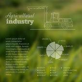 Industrie Transport. — Stockvektor