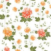 Seamless pattern on fabric — Stock Vector
