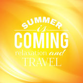 Summer coming phrase over wave backgroud. — Stock Vector