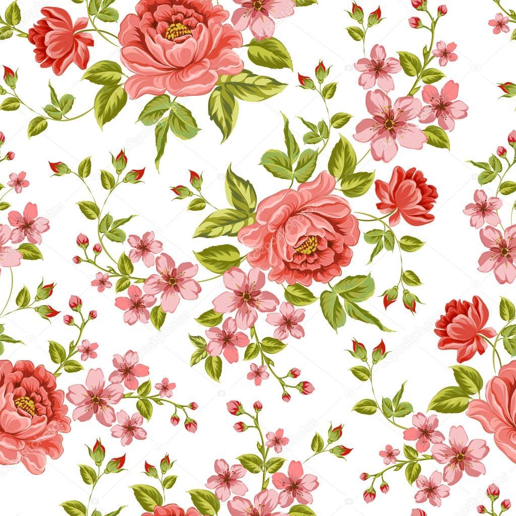豪华的颜色的牡丹花图案