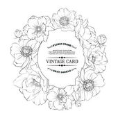 Cartão floral vintage. — Vetorial Stock