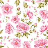 Elegant seamless peony pattern. — Stock Vector