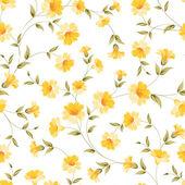 Elegant  flowers fabric. — Stock Vector