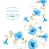 Design of vintage floral card. — Stock Vector