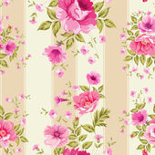 Roses, floral wallpaper — Stock Vector