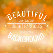 Bright background with lights. — Stock Vector