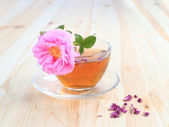 Vintage style cup of tea — Stock Photo