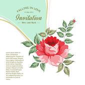 Spring flower for vintage card. — Stock Vector