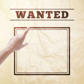 Wanted sign. — Vector de stock