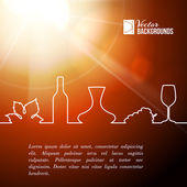 Style line of vine design. — Stock vektor