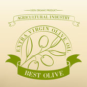 Vintage olive oil label. — Stock vektor