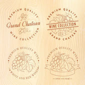 дизайн логотипа для вина. — Cтоковый вектор