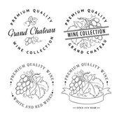 Design of logo for wine. — Stock Vector