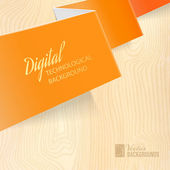 Orange paper. — Stock Vector
