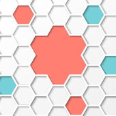 Hexagon background. — Stock Vector
