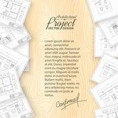 Architecture bluerints. — Stock Vector