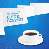 чашка кофе. — Cтоковый вектор