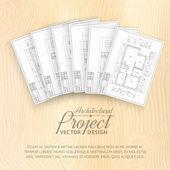 Diseño de la casa. — Vector de stock