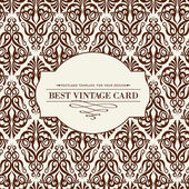 Carte vintage. — Vecteur