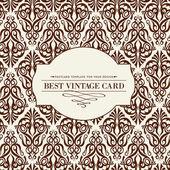 Tarjeta vintage. — Vector de stock