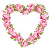 Floral heart. — Stock Vector