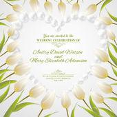 Wedding card. — Stock Vector