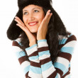Girl in a black hat — Stock Photo #12405066
