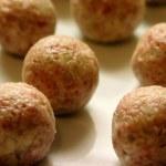 Raw meat ball — Stock Photo