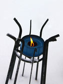 Stove stand in the snow — Stock Photo