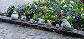Keramik fågel familj — Stockfoto