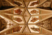 A dom roof with a middle ages mural — Stock Photo