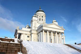 Holy and white tuomiokirkko in Helsinki — Stock Photo