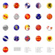 Stock Photo: Flags balls of France regions