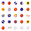 Flags balls of France regions — Stock Photo
