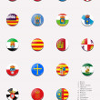 Stock Photo: Flags balls/stamps of autonomous communities of Spain