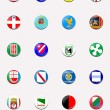 Flags balls/stamps of regions of Italy - Foto Stock