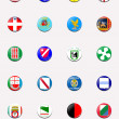 Flags balls/stamps of regions of Italy - Zdjcie stockowe