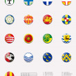 Regional and cities' flags ball of UK 1/2 — Stock Photo #12126909