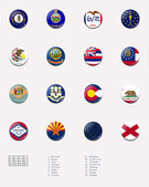 State flag ball/stamp of UNITED STATES 2/3 — Stock Photo