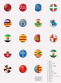 Flags balls/stamps of the autonomous communities of Spain — Stock Photo