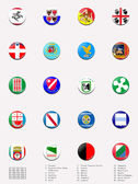 Flags balls/stamps of regions of Italy — Stock Photo