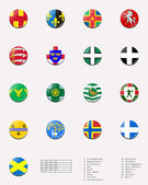 Regional and cities' flags ball of UK 2/2 — Stock Photo