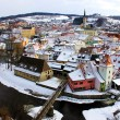 Town of Cesky Krumlov in winter - Stock Photo