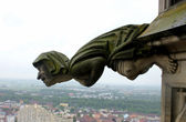 миф статуя на ulm собор церкви — Стоковое фото