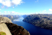 On top of Sognefjord in Norway — Stock Photo