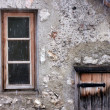 Window, door of an old cabin  — Stock Photo