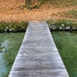 Pier on Lac d'annecy - Stock Photo